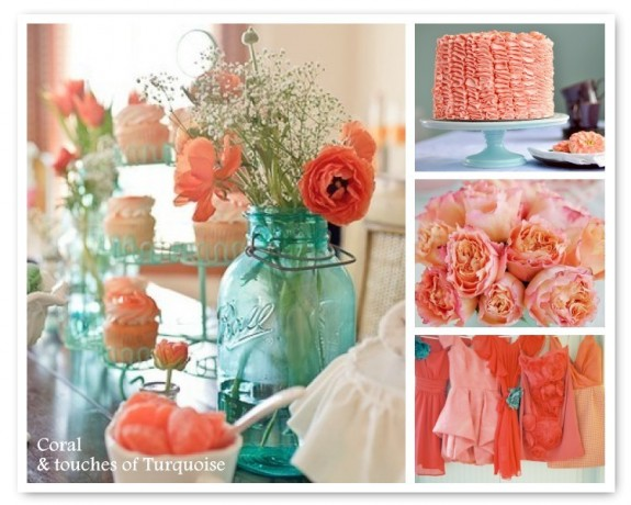 Coral And Turquoise Wedding: Coral And Turquoise Wedding