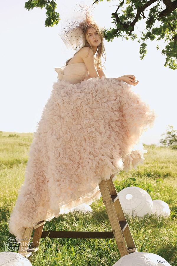 Watters Palm Springs Blush Pink Wedding Dress