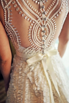 NYC Wedding Photographer - Dress back (12)