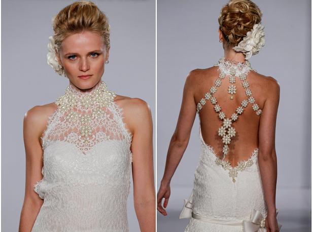 Nyc wedding photography gorgeous wedding dress backs for Choker neck wedding dress