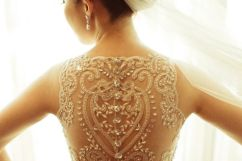 NYC Wedding Photographer - Dress back (17)